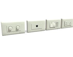 3D asset Realistic Low-poly Plug Socket