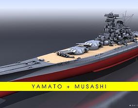BATTLESHIPS YAMATO-MUSASHI BUNDLE 3D model
