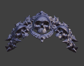 Sindel Diadem Tiara Crown from Mortal 3D printable model 1