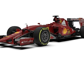 3D asset Ferrari Formula one Car SF15-T