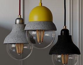Maayan - Pendant Lightweight Concrete Lamp 3D model