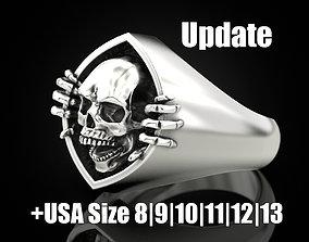 3D print model Skull and bone ring 2 Update