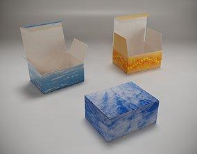 Cardboard packaging 3D asset