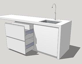 Kitchen island 2 3D model