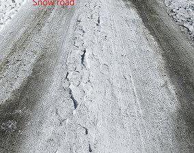 Snow road 3D model