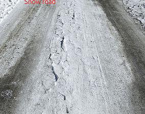 3D model Snow road