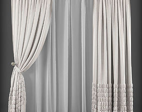 low-poly Curtain 3D model 177