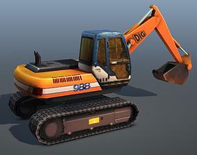 Digger - low poly 3D asset