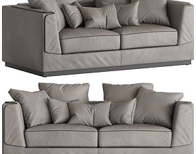 Flou Gentelman 2-Seater Sofa 3D model