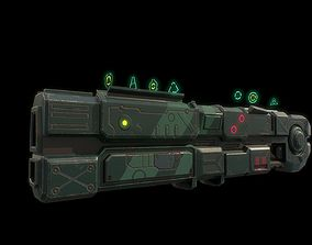 3D model Low poly alien impulse gun with holographic sight