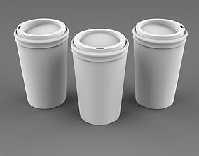 realtime 3D Paper Coffee Cups model
