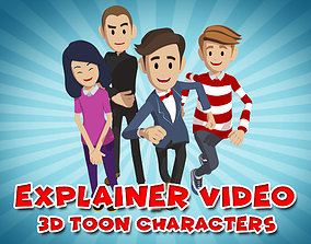 Explainer Video 3D Characters rigged