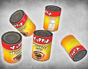 Canned Noodles 3D asset