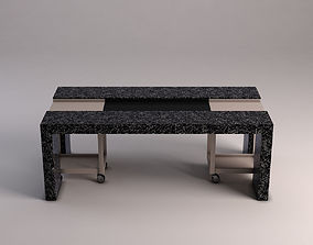 3D model DINING TABLE---Marble support and removable part