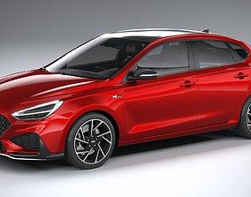 3D model Hyundai i30 Fastback N-line 2020