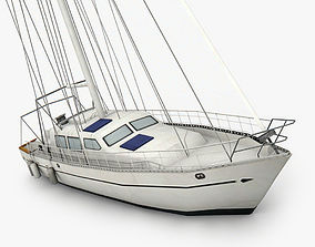 3D asset game-ready Sailboat