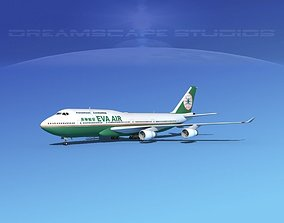 3D model Boeing 747-400 Eva Air