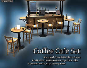 3D model Coffee Cafe Set