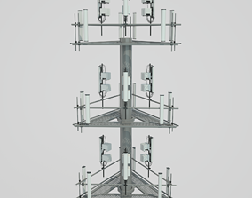3D model Cellular Tower Site