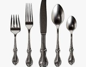 3D Cutlery set 05