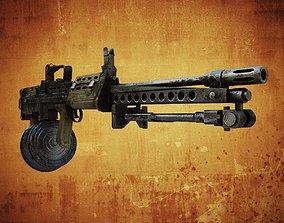 3D model SA80 Machine gun