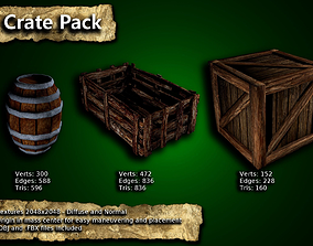 3D model Medieval Crates