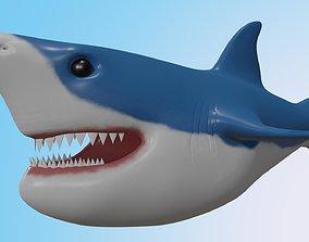 Shark model low-poly