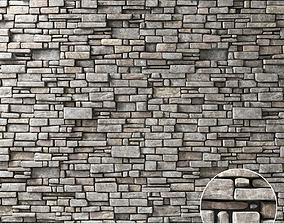 Wall stone brick 3D model
