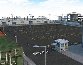 3D model Factory Parking - Drift Scene
