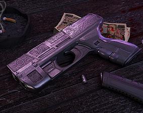 3D Hk VP 70 Cyberpunk Pistol