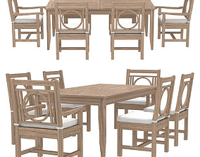 3D Restoration Hardware Leagrave table and chairs