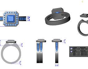 princess engagement ring 3D print model