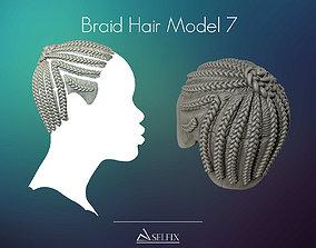 Braid Hairstyle 07 3D printable model