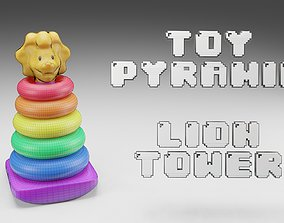 Toy Pyramid - Teddy Tower - Playset of 7 3D model
