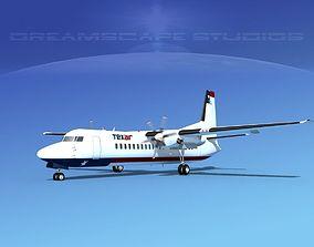 Fokker 50 Texair 3D