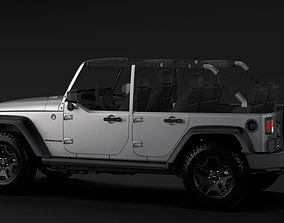 Jeep Wrangler Unlimited Willys Wheeler JK 2017 3D model