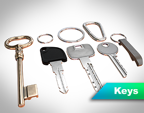 Keys with attachments 3D model