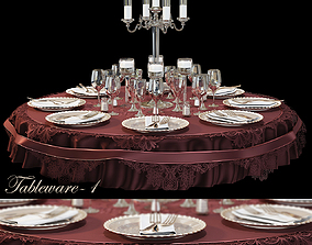 houseware DINING TABLE SET 3D model