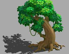 Cartoon forest - big tree 02 3D