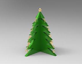 Alphabetical Christmas Tree with Three Feet 3D print model