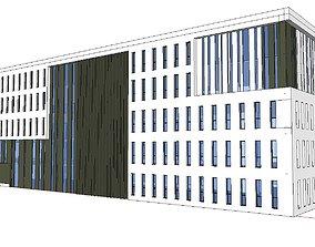 Office-Teaching Building-Canteen 30 3D