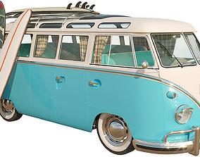 3D model Volkswagen T1 trailer