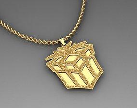 3D printable model gift pendant