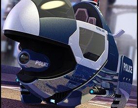 3D Interceptor Hover Bike