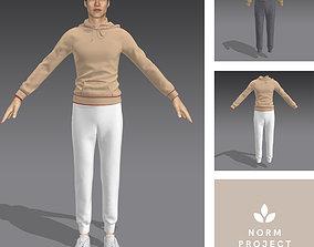 3D model Sweatshirt and Sweatpants