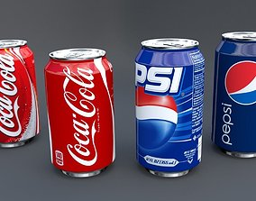 3D asset animated Soda Can Pack