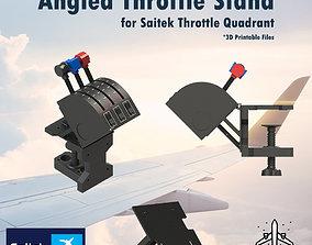 3D printable model ANGLED THROTTLE STAND FOR SAITEK 1