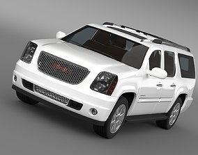 GMC Yukon XL Denali flex fuel 2014 3D model