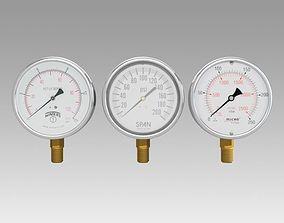 Pressure Gauge meter 3D model