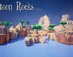 Cartoon Rocks Mobile for UNREAL 3D model